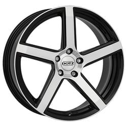 Dotz CP5 Dark 7.0x16 5x114.3 ET45 71.6 Black machined face rim
